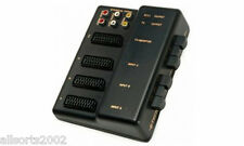 B TECH 3 WAY SCART SWITCHER SELECTOR CONTROL BOX FOR VIDEO & AUDIO