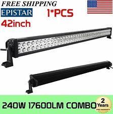 42INCH 240W LED WORK LIGHT BAR SPOT FLOOD COMBO 4WD DRIVING OFFROAD SUV TRA