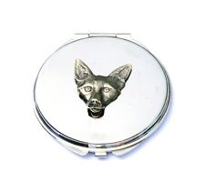 Fox Head Compact Handbag Mirror Ladies Shooting Hunting Gift FREE ENGRAVING