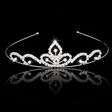 Wedding Party Bridal Tiara Children Crown Headband ear Rhinestone B4M7