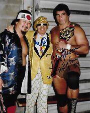 MR FUJI & DON MURACO WWF WWE SIGNED AUTOGRAPH 8X10 PHOTO
