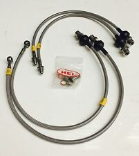 HEL STAINLESS BRAIDED BRAKE LINES HOSES BMW MINI R53 COOPER S SEPT2003-DEC 2006