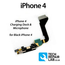 **NEW** Replacement 30 Pin Charging Dock/Port with Microphone FOR iPhone 4 BLACK