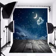 3x5ft Star Moon Night Sky Vinyl Photography Background Studio Backdrop Props