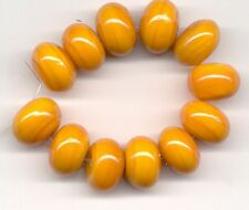 12 pcs Orange Rondelle Lampwork Glass Loose Beads Jewelry Spacer 8x12mm