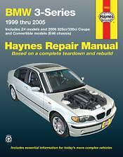 BMW 3-Series and Z4 Haynes Repair Manual for 1999 thru 2005 18022