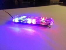 1/18 Flashing RED/BLUE LED Low Profile Lightbar for Custom Police Diecast Models