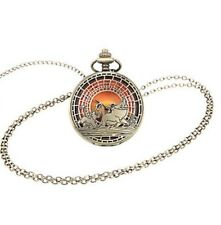 Disney The Lion King Sunset Pocket Watch Necklace Gift New With Tags!