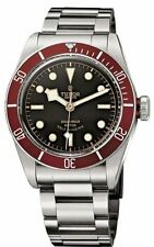 100% AUTHENTIC NEW TUDOR HERITAGE BLACK BAY RED BEZEL MEN'S WATCH 79220R BKSS