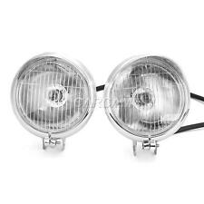 "2x Chrome 4"" Passing Headlight For Harley Davidson Dyna Glide Fat Bob Street Bob"