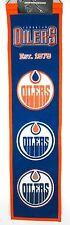 "Edmonton Oilers Wool Heritage Banner NHL Hockey 32"" New Embroidered Team Logo"