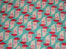 REALLY CUTE, 2 2/3 YARDS OF SANTA CHRISTMAS FLANNEL FABRIC, 38 INCHES WIDE,
