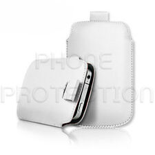 LEATHER PULL TAB SKIN CASE COVER POUCH FOR VARIOUS BLACKBERRY PHONES