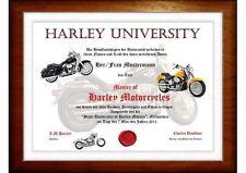 Harley-Motorrad Diplom   einfach ein tolles Geschenk