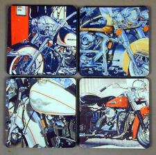 Harley Davidson Motorcycles Drink Coasters Set of 4 Made in the USA Free Ship