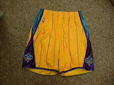 NBA New Orleans Hornets Game Worn/Used Adidas Game Shorts Gold/Teal Size Large