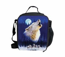 Boy Cool Wolf Cooler Thermal Waterproof Lunch Bag Box Container Picnic Women Men
