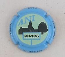 capsule champagne DOMI MOREAU n°13b vert pâle contour bleu