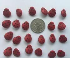 Mini Ladybird Buttons Red Black Novelty by Dress It Up 1859