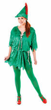 Ladies Peter Pan Fancy Dress Costume Womens Outfit UK 10-14