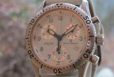 Famous Chronograph REVUE THOMMEN The AIRSPEED All Original Band,Buckle & Crown..