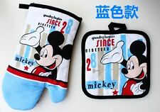 New Disney Mickey Kitchen Placemat Oven Mitt Pot Holders By Home Collection Set