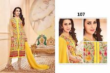 Designer Salwar Kameez Suit INDIAN PAKISTANI BOLLYWOOD ANARKALI DRESS SALWAR D1