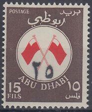 Abu Dhabi 1969 ** Mi.56 Freimarke mit Aufdr. new value surcharge