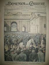 WW1 ROME Gal CHIONETTI TANK REMORQUANT UNE PENICHE LA DOMENICA DEL CORRIERE 1919