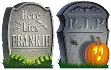 32 Halloween Grave Stone Headstone Scary Edible Cupcake Wafer Paper Toppers