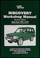 Land Rover Discovery Owners Shop Manual 1998 1997 1996 1995 1994 1993 1992 1991