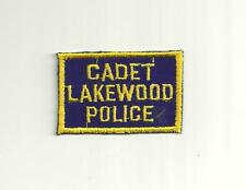 LAKEWOOD OHIO CADET  POLICE PATCH/