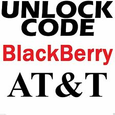 ATT BlackBerry ANY MODEL Factory Unlock Code Service AT&T USA
