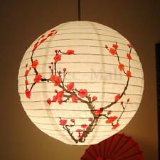 "13"" Chinese Plum Blossom Paper Lantern Lamp Shade Oriental Home Decoration"