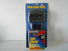 Alaron Personal Stereo Cassette Player with 6 Maxwell Cassettes - New in Package
