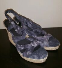 Rampage Hippie Boho Tie Dye Wedge Sandals size 9.5