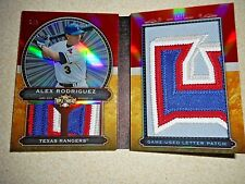 2011 Topps Triple Threads Letter Patch Booklet Alex Rodriguez 2/3 Texas Rangers
