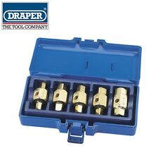 DRAPER TOOLS 5 Piece Drain Plug Key Set 9mm11mm12mm13mm17mm HEX & SQUARE 56627