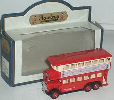 "Hamleys Finest Toyshop Lledo Days Gone Double Decker Bus/trolley  3""  NEW in Box"