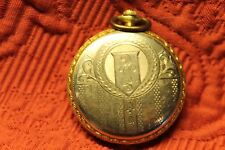 ILLINOIS 17JEWEL OPEN FACE POCKET WATCH - ORNATE CASE - WORKING