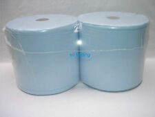 2 Blue Bumper Industrial Jumbo Roll 1000 Sheets 2 Ply Cleaning Wholesale Barrel