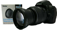 52MM 2.2x HD Telephoto Zoom Lens for Nikon AF-S DX Nikkor 18-55mm 55-200mm