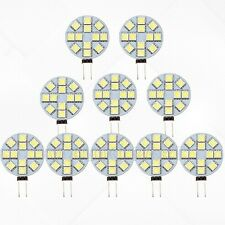 10X 5050 SMD 12 LED G4 Base Side Pin light Car Reading Bulb DC 12V Cool White