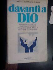 LIBRO DAVANTI A DIO COMUNITà ECUMENICA DI BOSE GRIBAUDI 1977