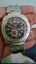 VINTAGE SICURA 17 JEWELS MECHANICAL CHRONO WATCH DIVER RED BUTTON