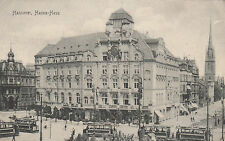 Postcard Germany Hannover Hansa-Haus trams early vintage