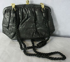 Vintage Bag Black Saks Fifth Avenue Clutch Leather Breakfast At Tiffanys