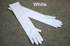 Long Satin Opera Wedding Bridal Evening Party Ball Stage Costume Glove Cosplay
