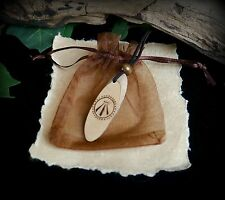 Witches Wooden Talisman with Awen design Wiccan Pagan Yule Gift