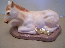 Larger Plaster Donkey with Glass Eyes for Nativity, Creche #1 - Mexico